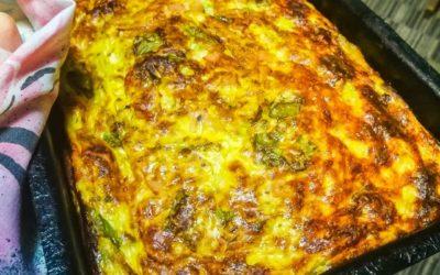 Keto pita sa jajima i sirom